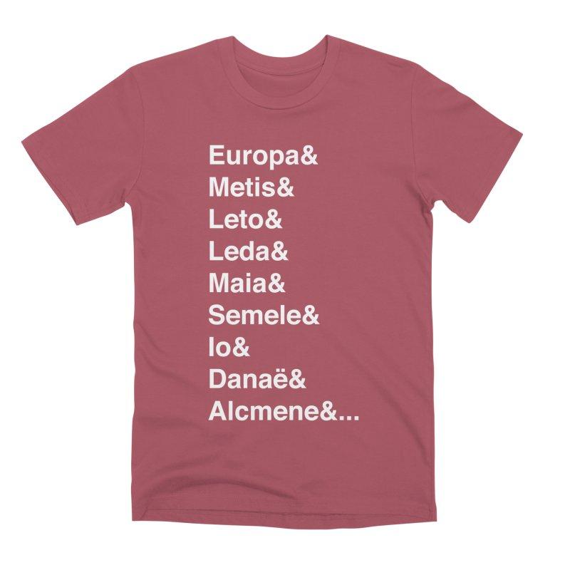 Helvetica Greek Survivors (White Text) **LAST CHANCE** Men's T-Shirt by Let's Talk About Myths, Baby! Merch Shop
