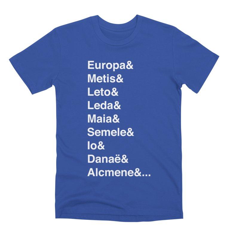 Helvetica Greek Survivors (White Text) Men's Premium T-Shirt by Myths Baby's Artist Shop