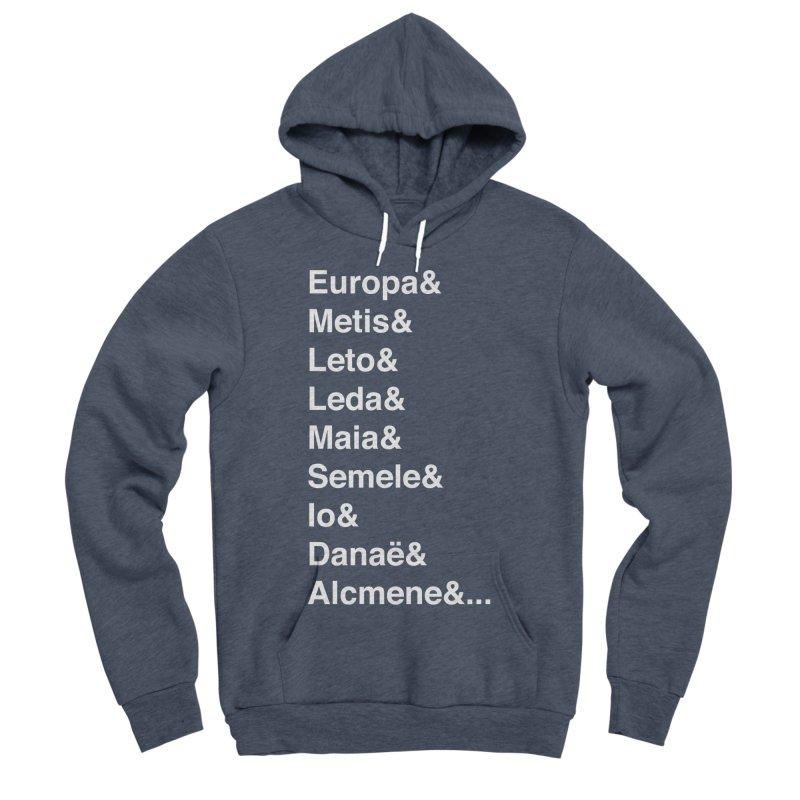 Helvetica Greek Survivors (White Text) Women's Sponge Fleece Pullover Hoody by Myths Baby's Artist Shop