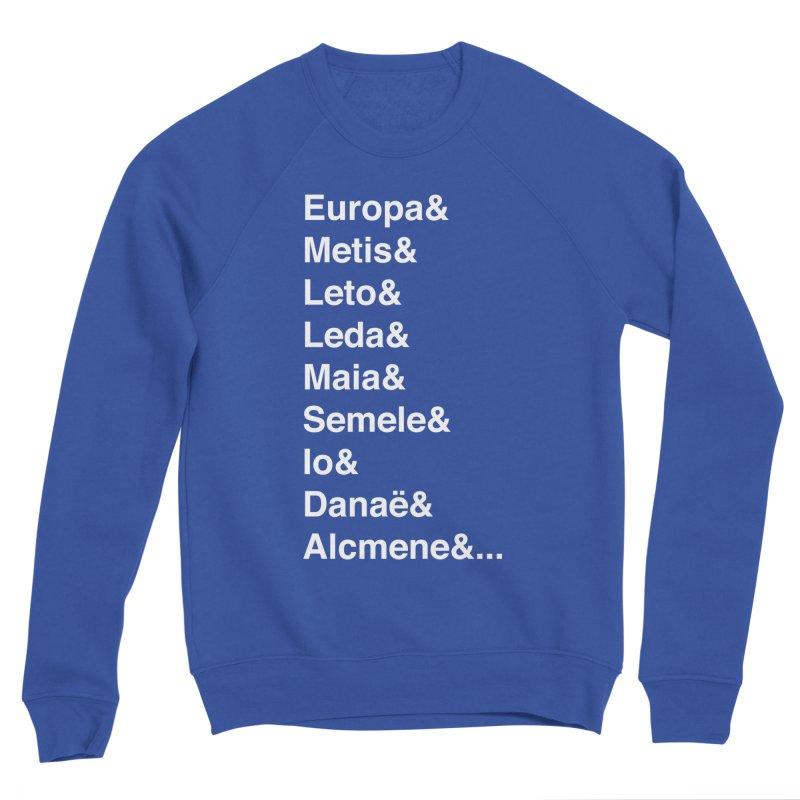 Helvetica Greek Survivors (White Text) **LAST CHANCE** Men's Sweatshirt by Let's Talk About Myths, Baby! Merch Shop