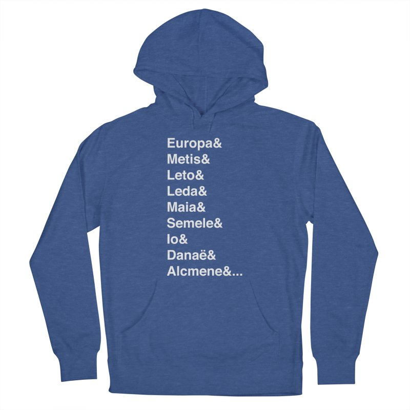 Helvetica Greek Survivors (White Text) **LAST CHANCE** Women's Pullover Hoody by Let's Talk About Myths, Baby! Merch Shop