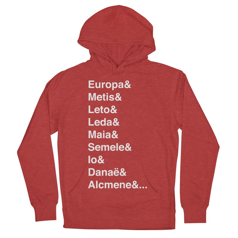 Helvetica Greek Survivors (White Text) Women's French Terry Pullover Hoody by Myths Baby's Artist Shop