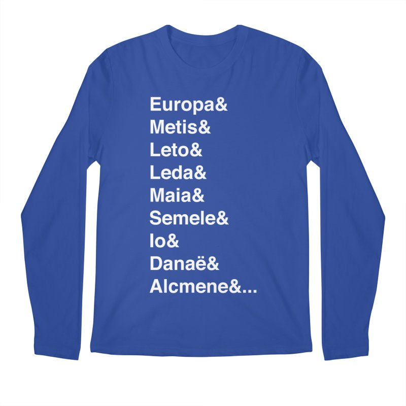 Helvetica Greek Survivors (White Text) Men's Regular Longsleeve T-Shirt by Myths Baby's Artist Shop