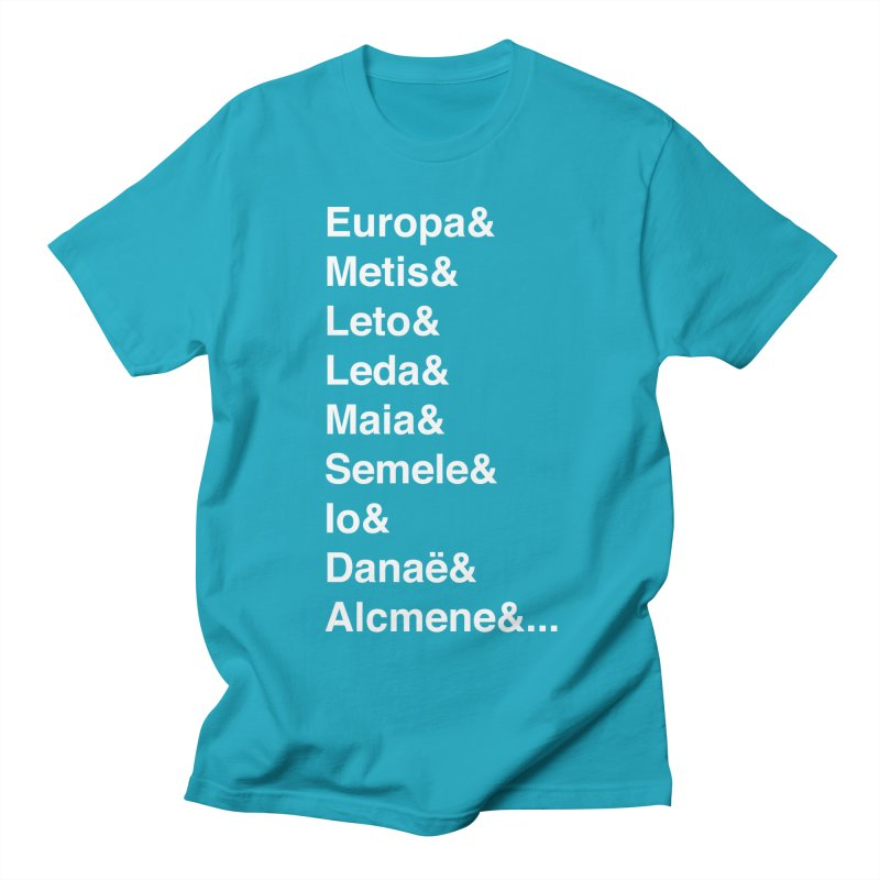 Helvetica Greek Survivors (White Text) Women's Regular Unisex T-Shirt by Myths Baby's Artist Shop