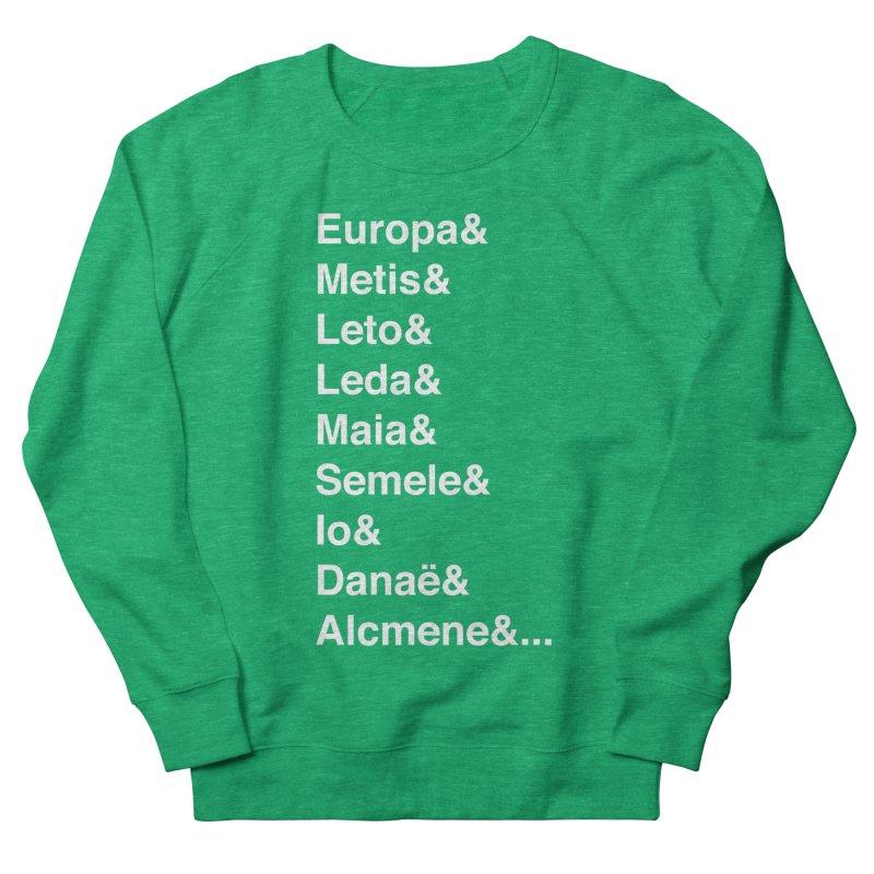 Helvetica Greek Survivors (White Text) **LAST CHANCE** Women's Sweatshirt by Let's Talk About Myths, Baby! Merch Shop