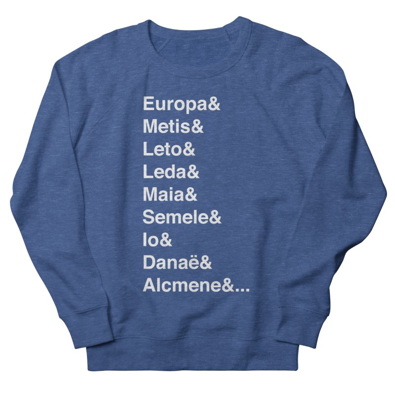 Helvetica Greek Survivors (White Text) **LAST CHANCE** Men's Sweatshirt by Let's Talk About Myths, Baby! Merch Shop