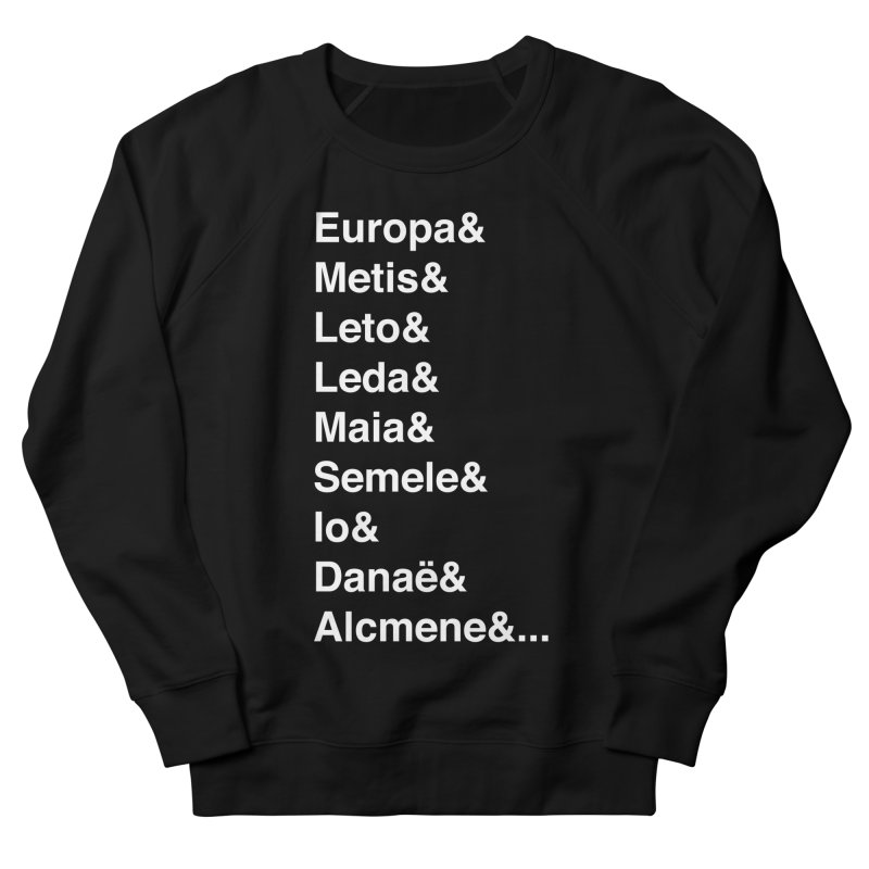 Helvetica Greek Survivors (White Text) Men's French Terry Sweatshirt by Myths Baby's Artist Shop