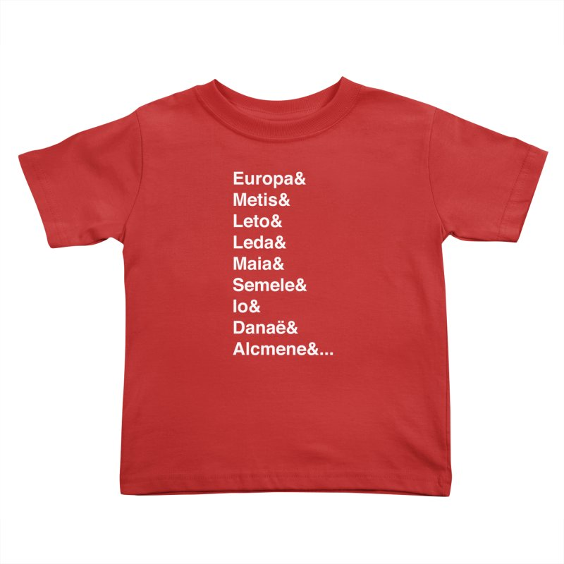 Helvetica Greek Survivors (White Text) **LAST CHANCE** Kids Toddler T-Shirt by Let's Talk About Myths, Baby! Merch Shop
