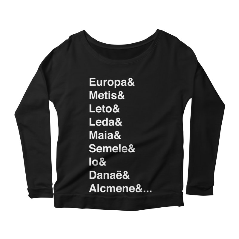 Helvetica Greek Survivors (White Text) **LAST CHANCE** Women's Longsleeve T-Shirt by Let's Talk About Myths, Baby! Merch Shop