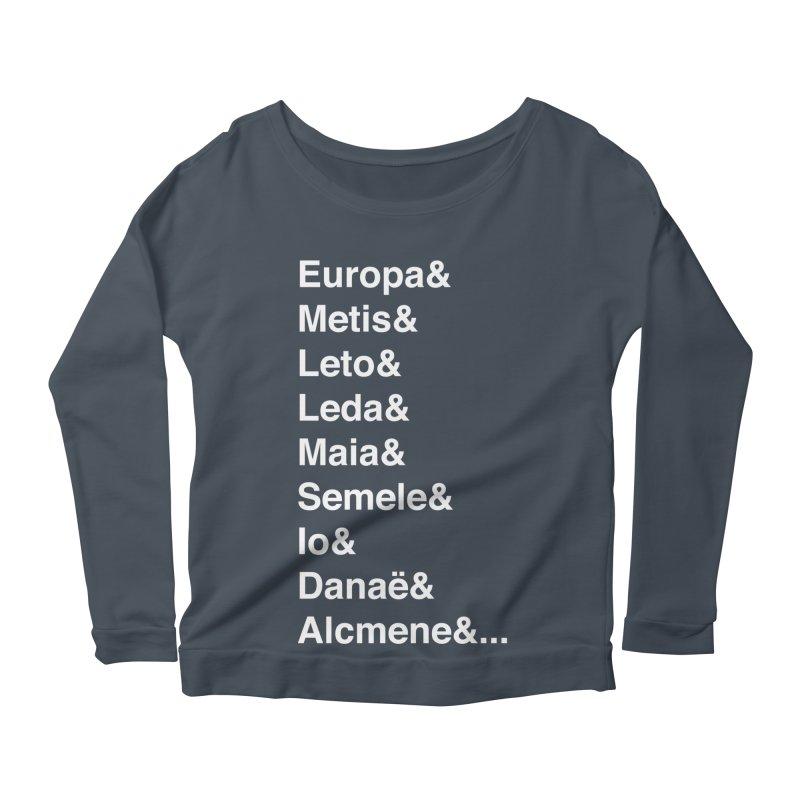 Helvetica Greek Survivors (White Text) **LAST CHANCE** Women's Longsleeve T-Shirt by Let's Talk About Myths, Baby! Merch Shop