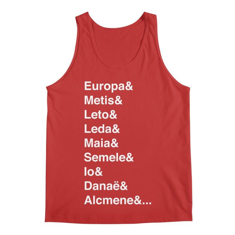 Helvetica Greek Survivors (White Text) Men's Regular Tank by Myths Baby's Artist Shop