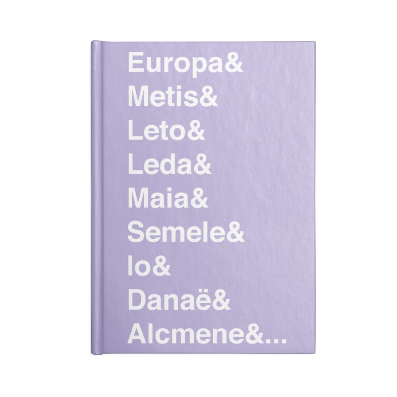 Helvetica Greek Survivors (White Text) Accessories Lined Journal Notebook by Myths Baby's Artist Shop