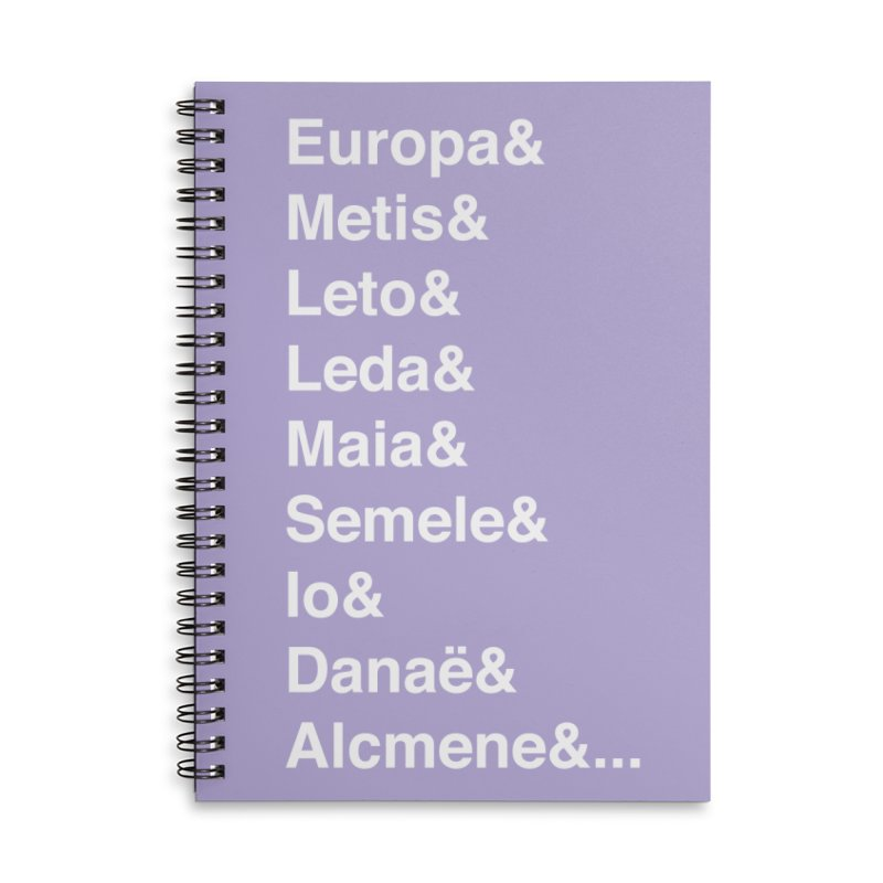 Helvetica Greek Survivors (White Text) Accessories Lined Spiral Notebook by Myths Baby's Artist Shop