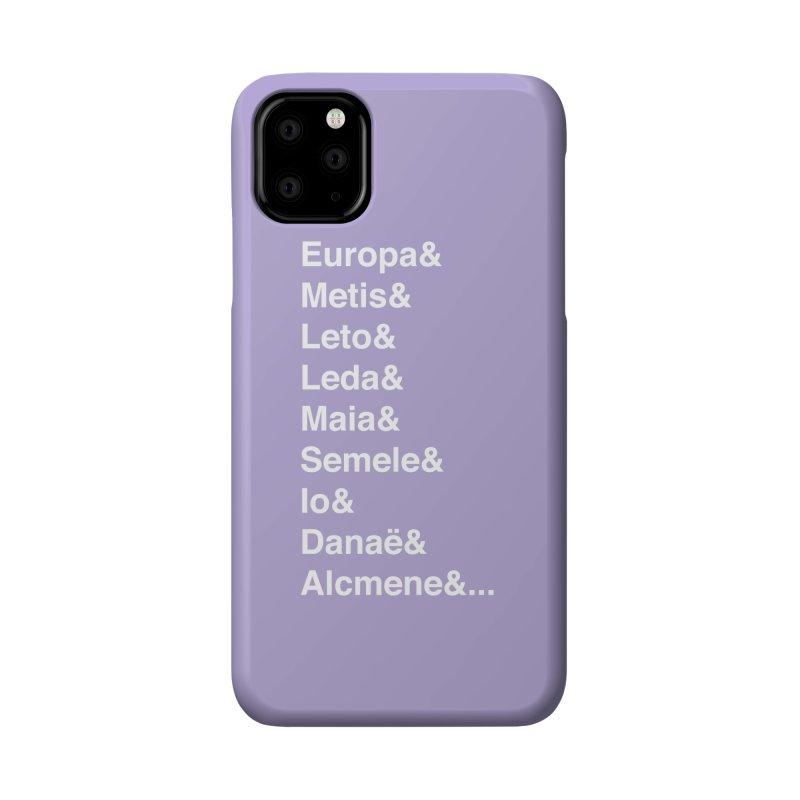 Helvetica Greek Survivors (White Text) Accessories Phone Case by Myths Baby's Artist Shop