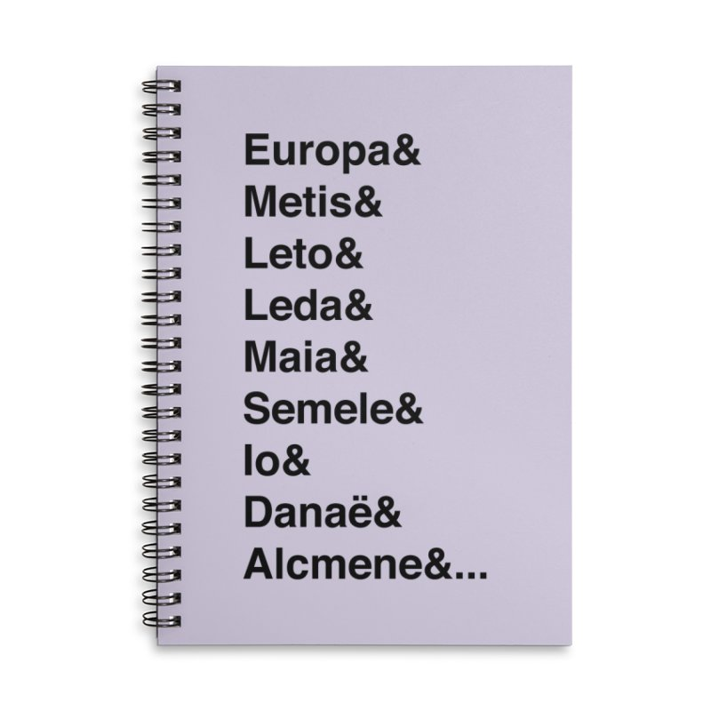 Helvetica Greek Survivors (Black Text) Accessories Lined Spiral Notebook by Myths Baby's Artist Shop