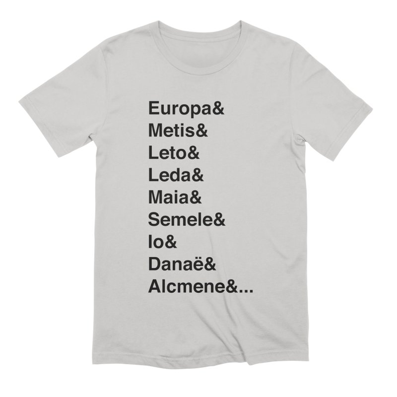 Helvetica Greek Survivors (Black Text) Men's Extra Soft T-Shirt by Myths Baby's Artist Shop