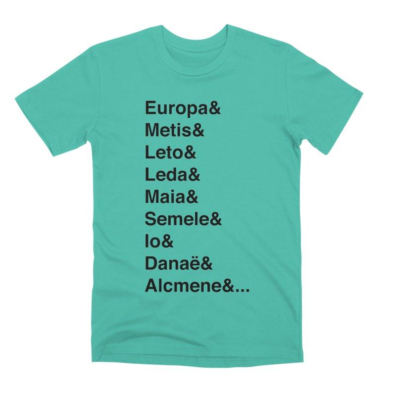 Helvetica Greek Survivors (Black Text) Men's Premium T-Shirt by Myths Baby's Artist Shop