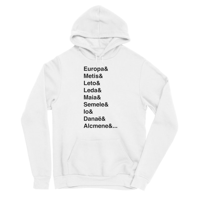 Helvetica Greek Survivors (Black Text) **LAST CHANCE** Women's Pullover Hoody by Let's Talk About Myths, Baby! Merch Shop