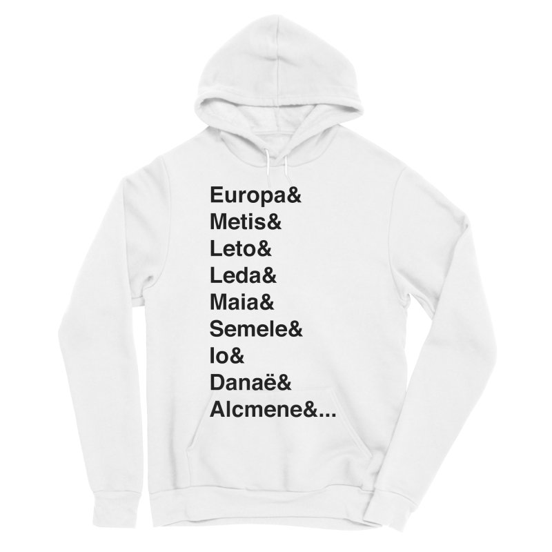 Helvetica Greek Survivors (Black Text) Women's Sponge Fleece Pullover Hoody by Myths Baby's Artist Shop
