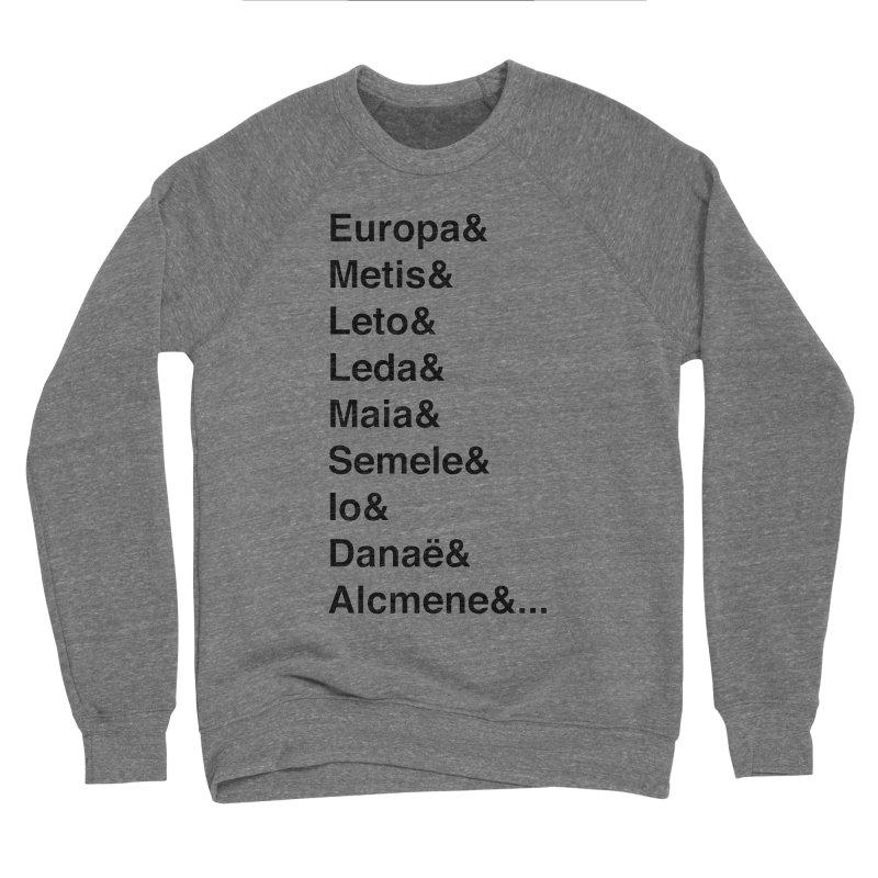 Helvetica Greek Survivors (Black Text) Men's Sponge Fleece Sweatshirt by Myths Baby's Artist Shop