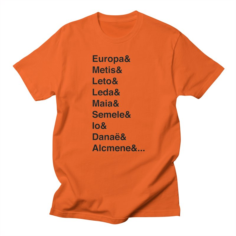 Helvetica Greek Survivors (Black Text) Men's T-Shirt by Myths Baby's Artist Shop