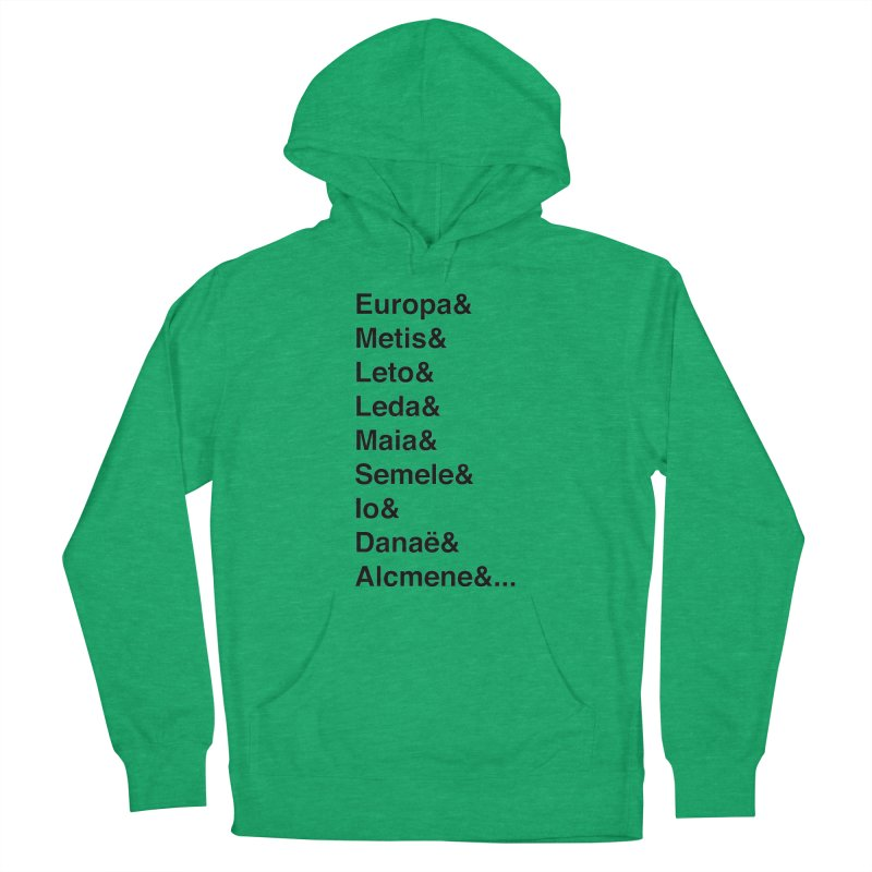 Helvetica Greek Survivors (Black Text) **LAST CHANCE** Men's Pullover Hoody by Let's Talk About Myths, Baby! Merch Shop