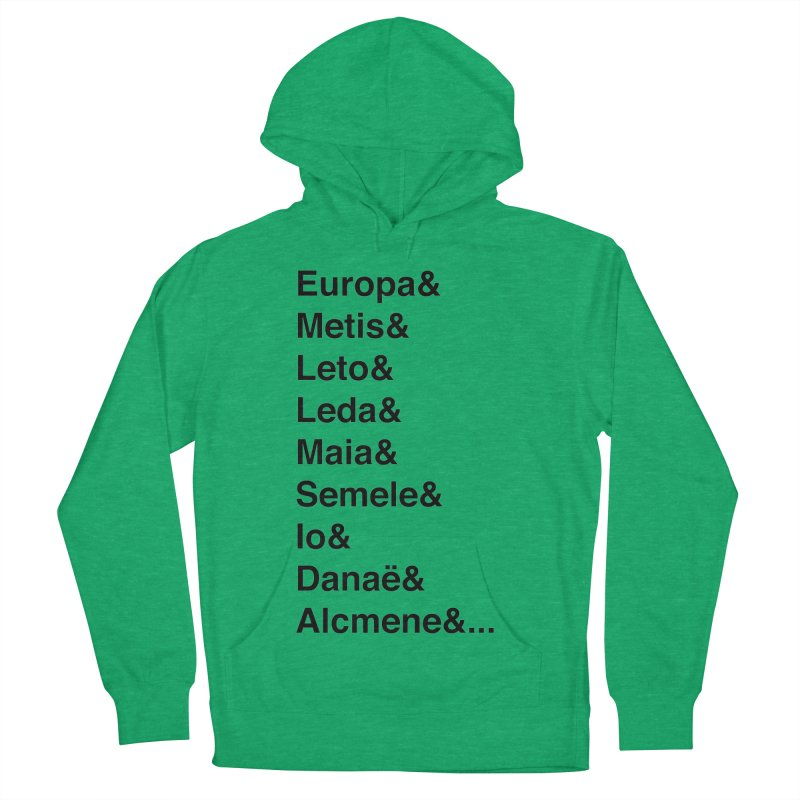 Helvetica Greek Survivors (Black Text) Women's French Terry Pullover Hoody by Myths Baby's Artist Shop
