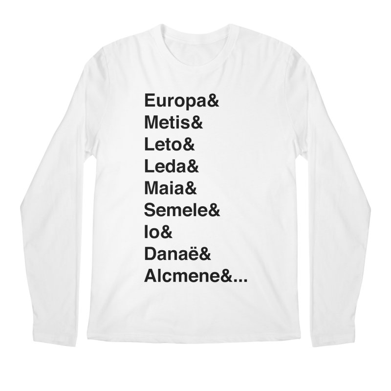 Helvetica Greek Survivors (Black Text) Men's Regular Longsleeve T-Shirt by Myths Baby's Artist Shop