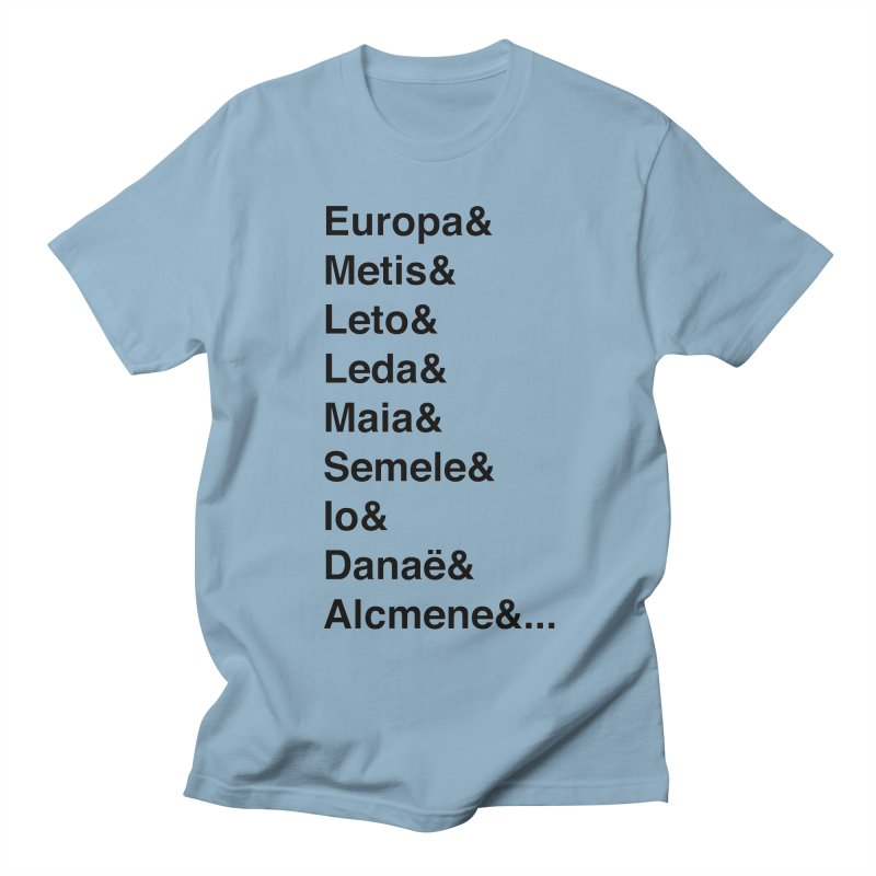 Helvetica Greek Survivors (Black Text) Men's Regular T-Shirt by Myths Baby's Artist Shop
