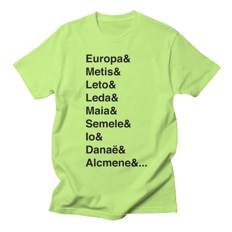 Helvetica Greek Survivors (Black Text) **LAST CHANCE** Men's T-Shirt by Let's Talk About Myths, Baby! Merch Shop