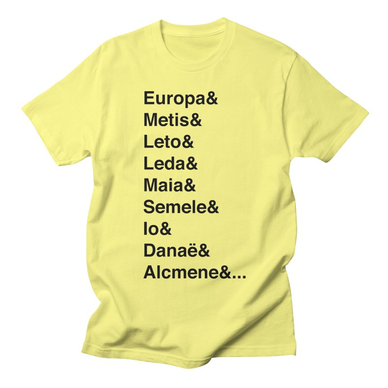 Helvetica Greek Survivors (Black Text) **LAST CHANCE** Men's T-Shirt by Let's Talk About Myths, Baby! Merch Shop
