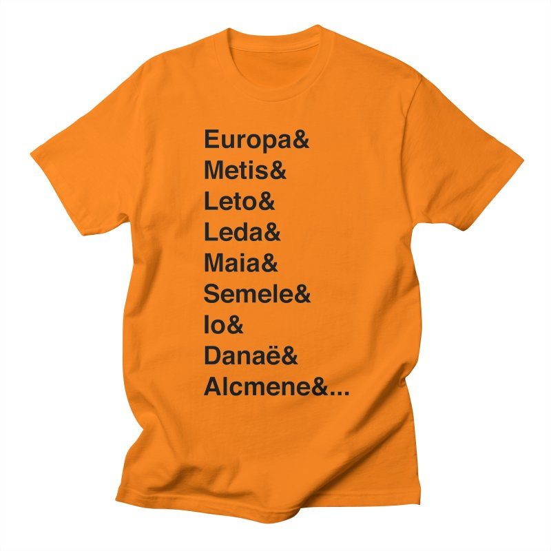 Helvetica Greek Survivors (Black Text) Women's Regular Unisex T-Shirt by Myths Baby's Artist Shop