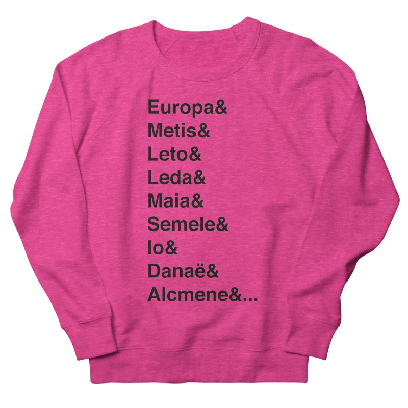 Helvetica Greek Survivors (Black Text) Women's French Terry Sweatshirt by Myths Baby's Artist Shop