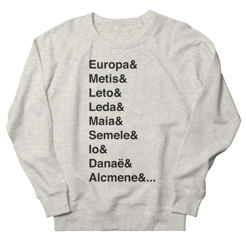 Helvetica Greek Survivors (Black Text) **LAST CHANCE** Women's Sweatshirt by Let's Talk About Myths, Baby! Merch Shop