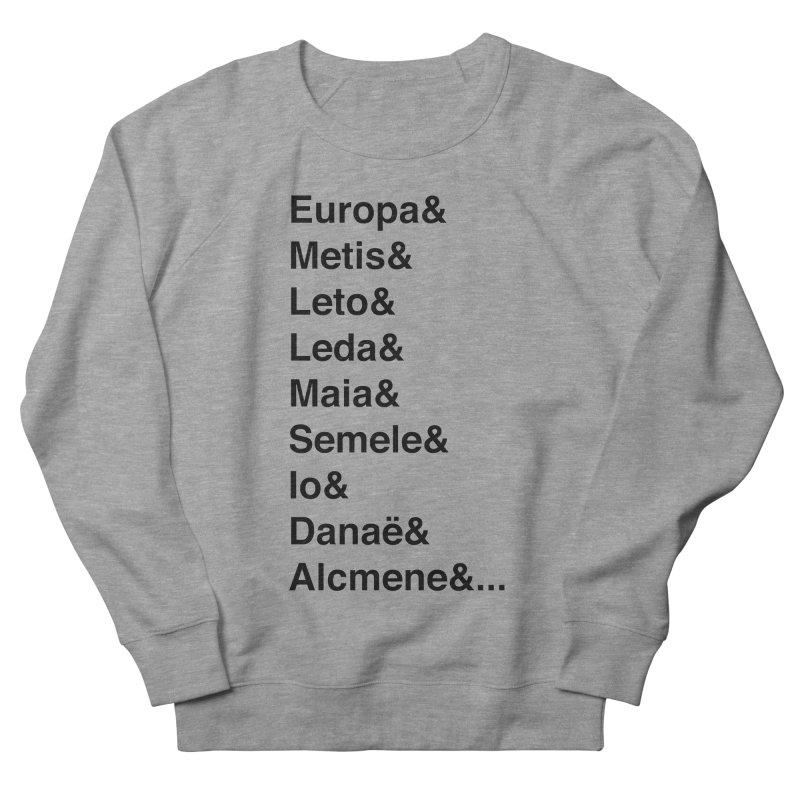 Helvetica Greek Survivors (Black Text) Men's French Terry Sweatshirt by Myths Baby's Artist Shop