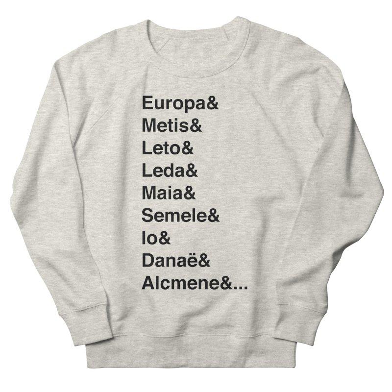 Helvetica Greek Survivors (Black Text) **LAST CHANCE** Men's Sweatshirt by Let's Talk About Myths, Baby! Merch Shop