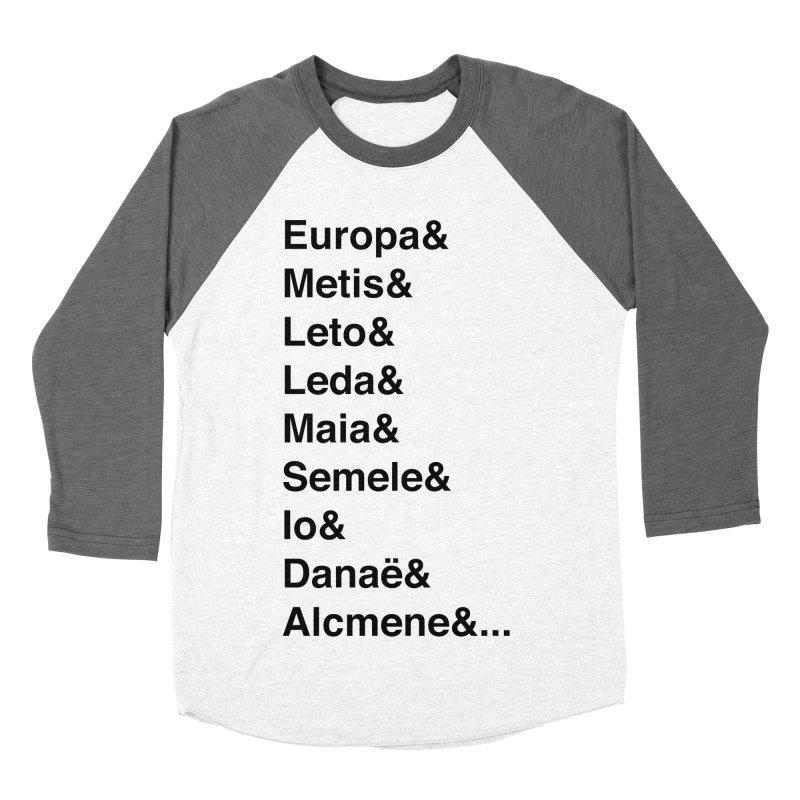 Helvetica Greek Survivors (Black Text) Women's Baseball Triblend Longsleeve T-Shirt by Myths Baby's Artist Shop