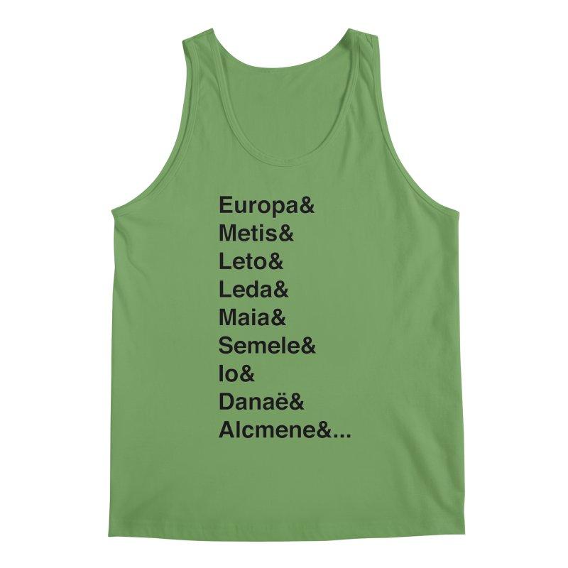 Helvetica Greek Survivors (Black Text) **LAST CHANCE** Men's Tank by Let's Talk About Myths, Baby! Merch Shop