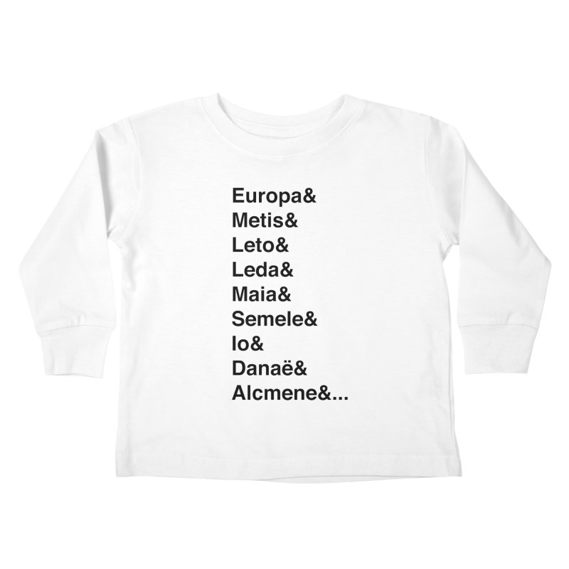 Helvetica Greek Survivors (Black Text) Kids Toddler Longsleeve T-Shirt by Myths Baby's Artist Shop