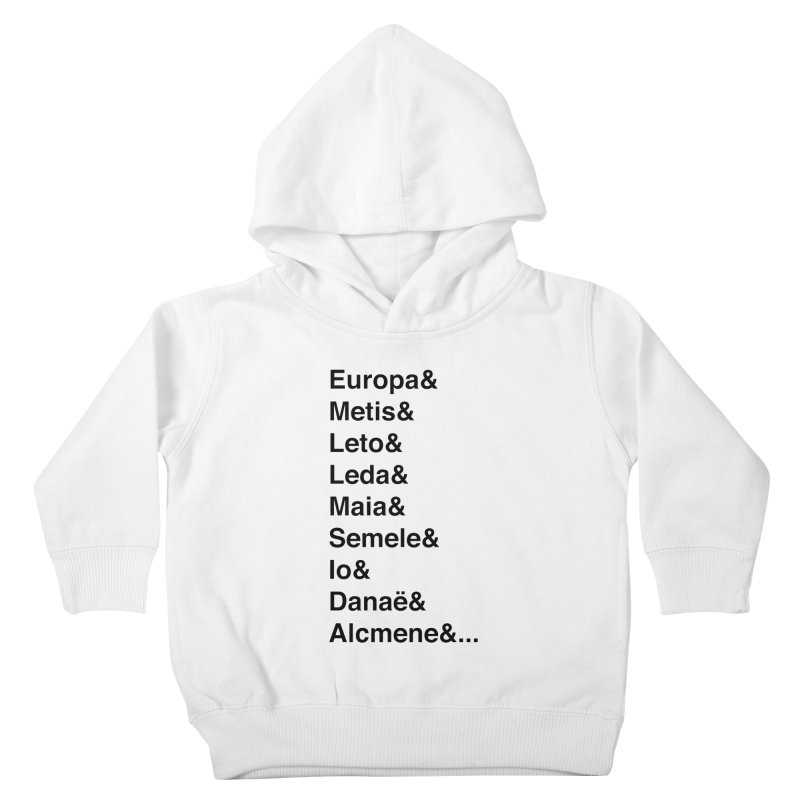 Helvetica Greek Survivors (Black Text) Kids Toddler Pullover Hoody by Myths Baby's Artist Shop