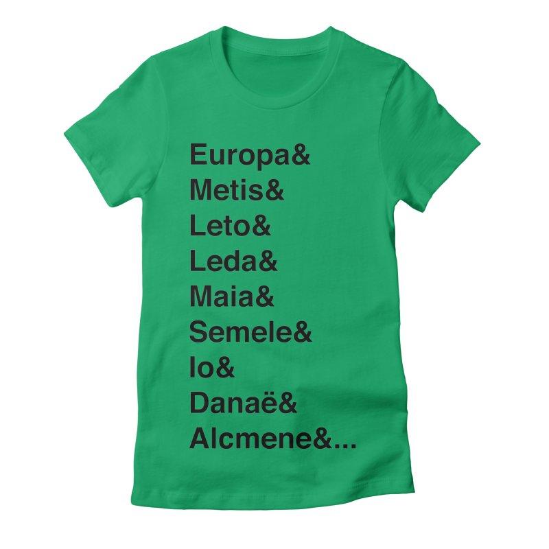 Helvetica Greek Survivors (Black Text) **LAST CHANCE** Women's T-Shirt by Let's Talk About Myths, Baby! Merch Shop