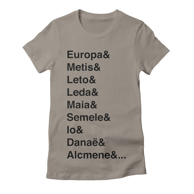 Helvetica Greek Survivors (Black Text) Women's Fitted T-Shirt by Myths Baby's Artist Shop