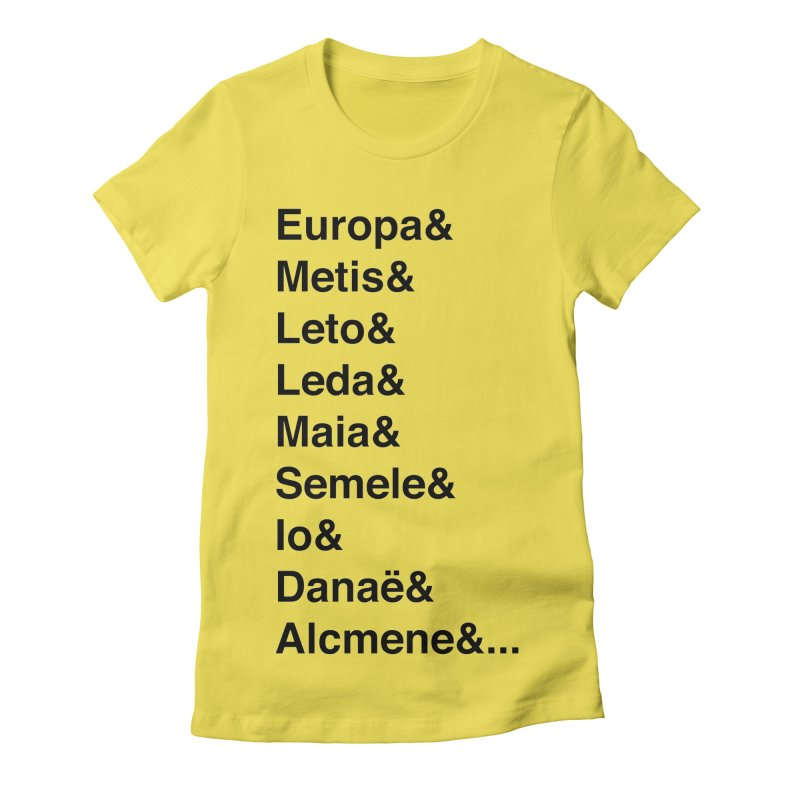 Helvetica Greek Survivors (Black Text) **LAST CHANCE** Women's T-Shirt by Let's Talk About Myths, Baby! Merch Shop