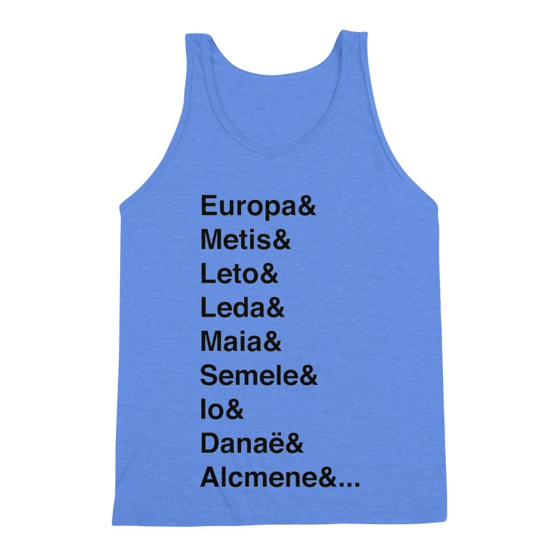 Helvetica Greek Survivors (Black Text) Men's Triblend Tank by Myths Baby's Artist Shop