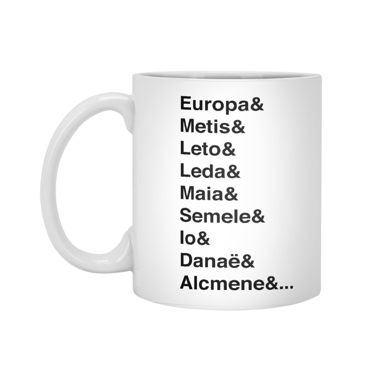 Helvetica Greek Survivors (Black Text) Accessories Standard Mug by Myths Baby's Artist Shop