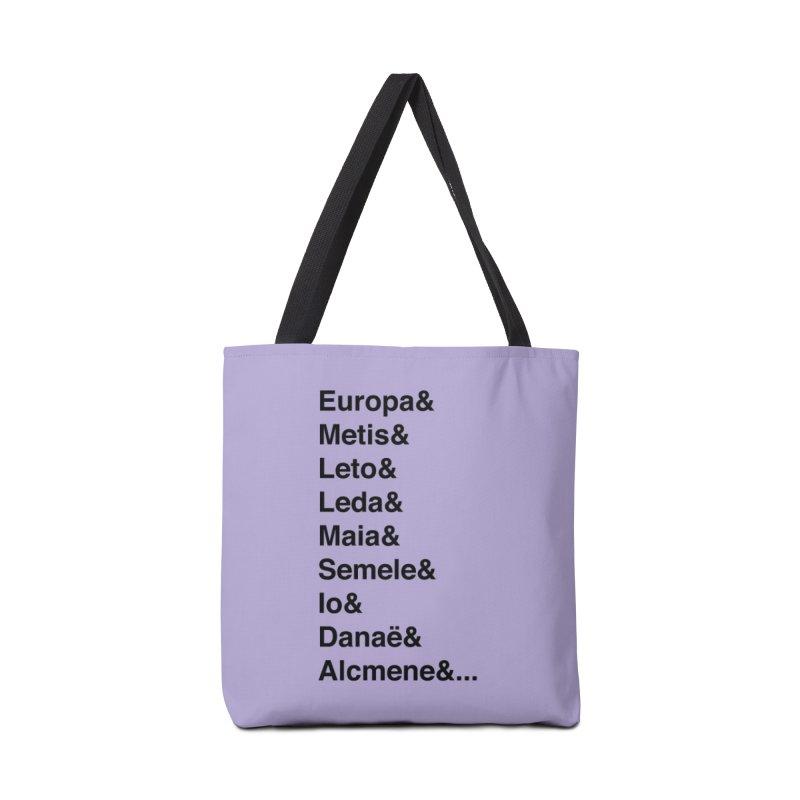 Helvetica Greek Survivors (Black Text) **LAST CHANCE** Accessories Bag by Let's Talk About Myths, Baby! Merch Shop