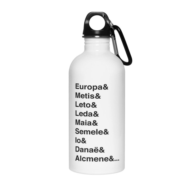 Helvetica Greek Survivors (Black Text) Accessories Water Bottle by Myths Baby's Artist Shop