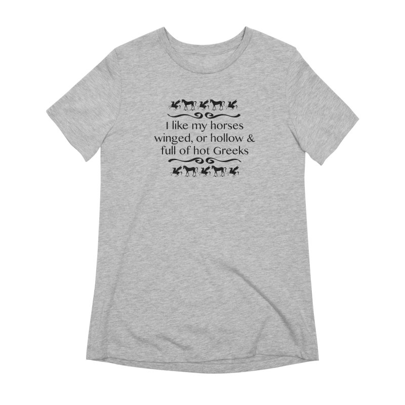 Greek Horses Women's Extra Soft T-Shirt by Myths Baby's Artist Shop