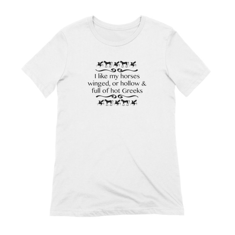 Greek Horses **LAST CHANCE** Women's T-Shirt by Let's Talk About Myths, Baby! Merch Shop