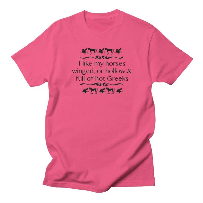 Greek Horses Men's T-Shirt by Myths Baby's Artist Shop